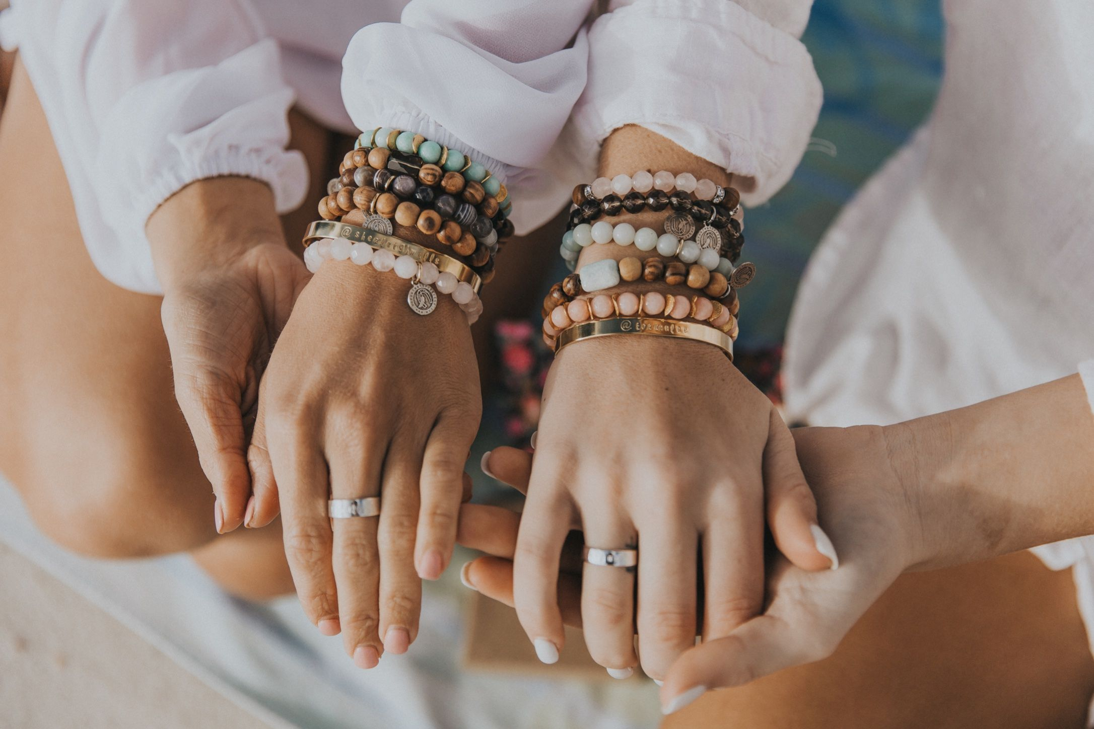 bracelets on bracelets.. these are the perfect accessory....Beaded bracelets And how to wear them.  #bracelets #beadedbracelets