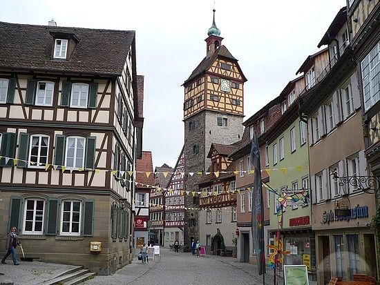 Schw bisch hall germany i lived next to that clock tower josenturm the cutest little german - Gunst mobelhaus schwabisch hall ...
