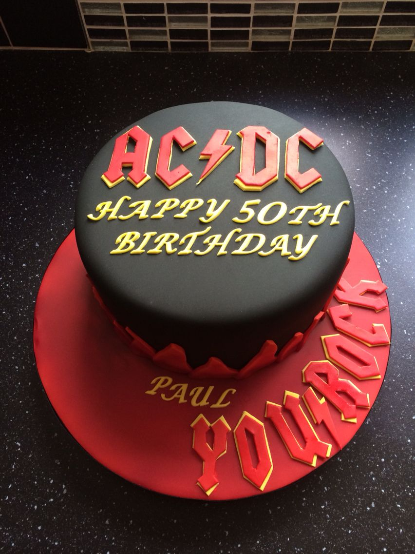 Prime Ac Dc Themed Birthday Cake With Images Cake Acdc Cake Party Funny Birthday Cards Online Kookostrdamsfinfo