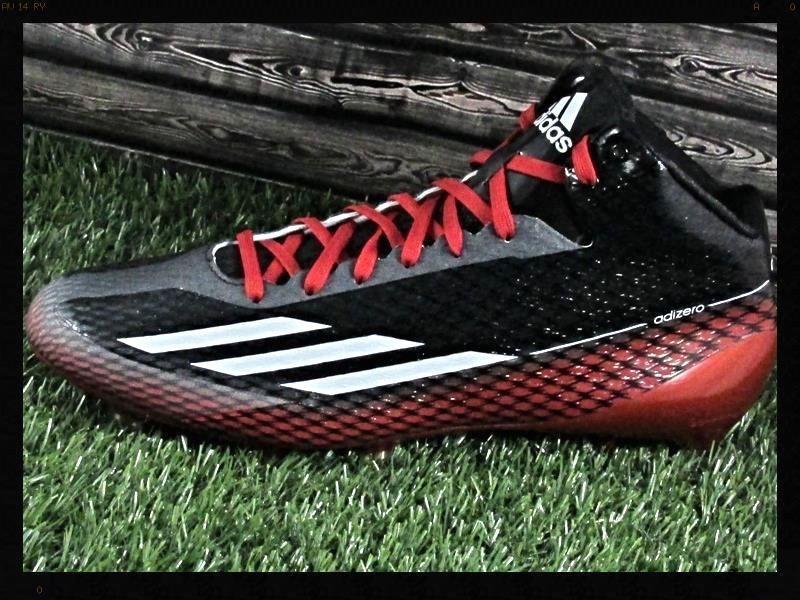 Mens Adidas adizero 5-Star 3.0 Mid Football Cleats Red Black  Adidas ... a2a34d78c