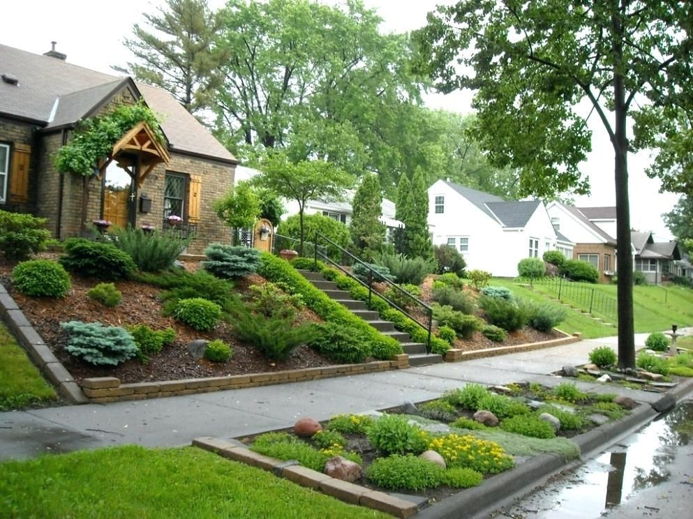 Image Result For House On A Hill Front Yard Landscaping Macminiideas Backyard Hill Landscaping Sloped Front Yard Landscaping On A Hill