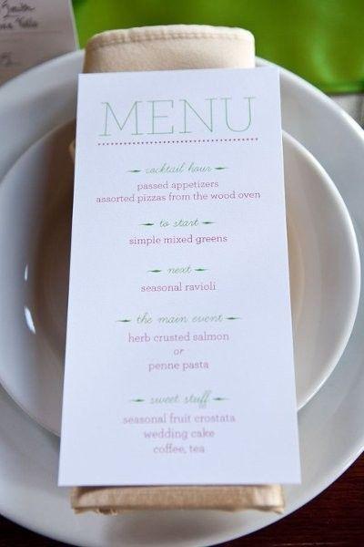 Menu Displays Ideas Wedding Invitations Photos By Laurel Events Image 17 Of 76 Weddingwire