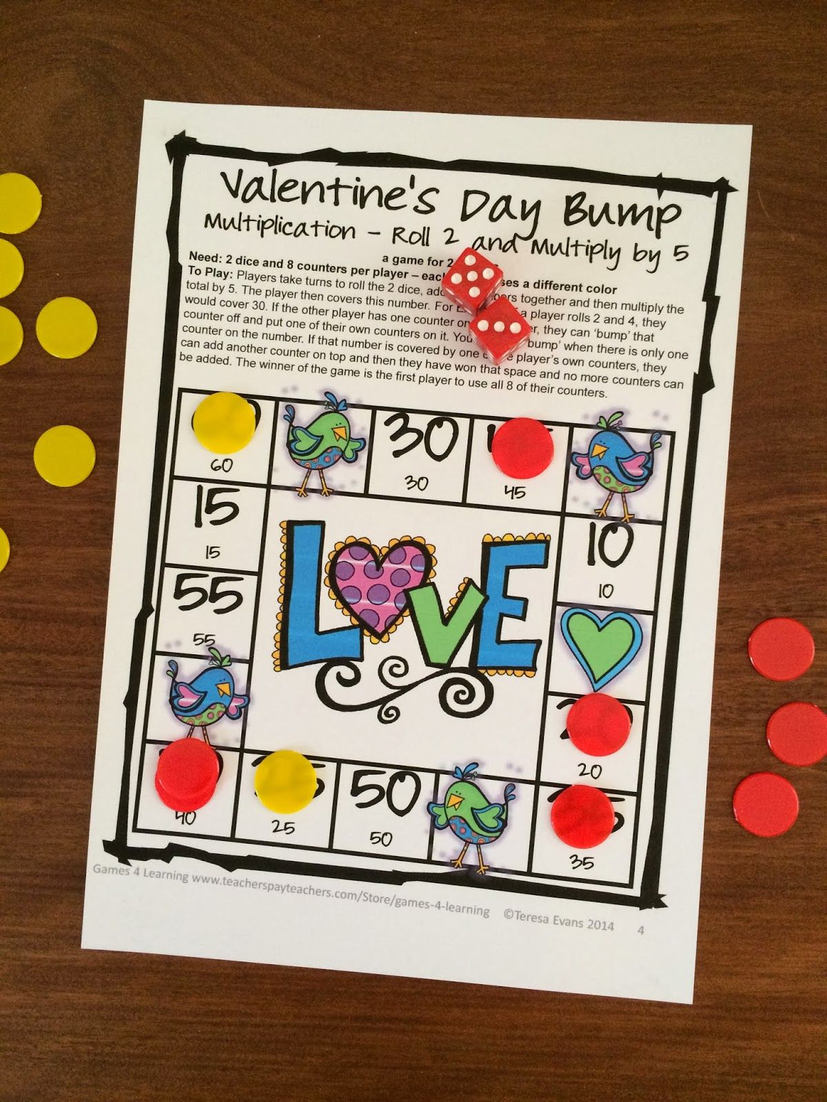 Valentine S Day Math Game Freebie