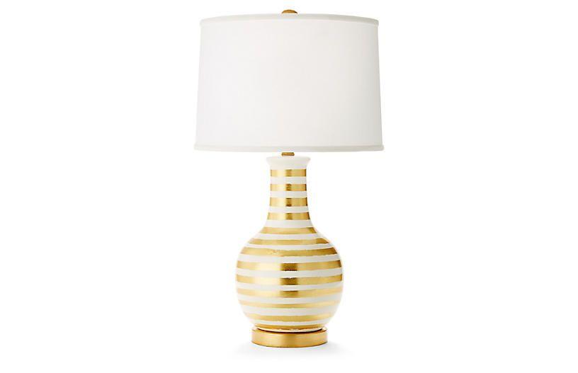 Madison table lamp gold white