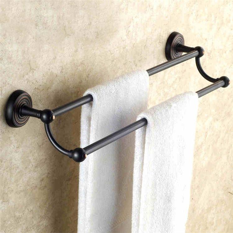 タオル掛け 浴室二重タオルバー 壁掛けタオル掛け バスアクセサリー