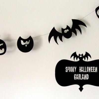 Halloween Silhouette Garland {Decorating With Paper} Halloween