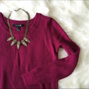 Forever 21 Sweaters - [forever 21] chunky waffle knit sweater