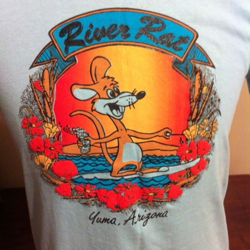 Vintage 1980s Yuma Arizona River Rat T Shirt Water Skiing