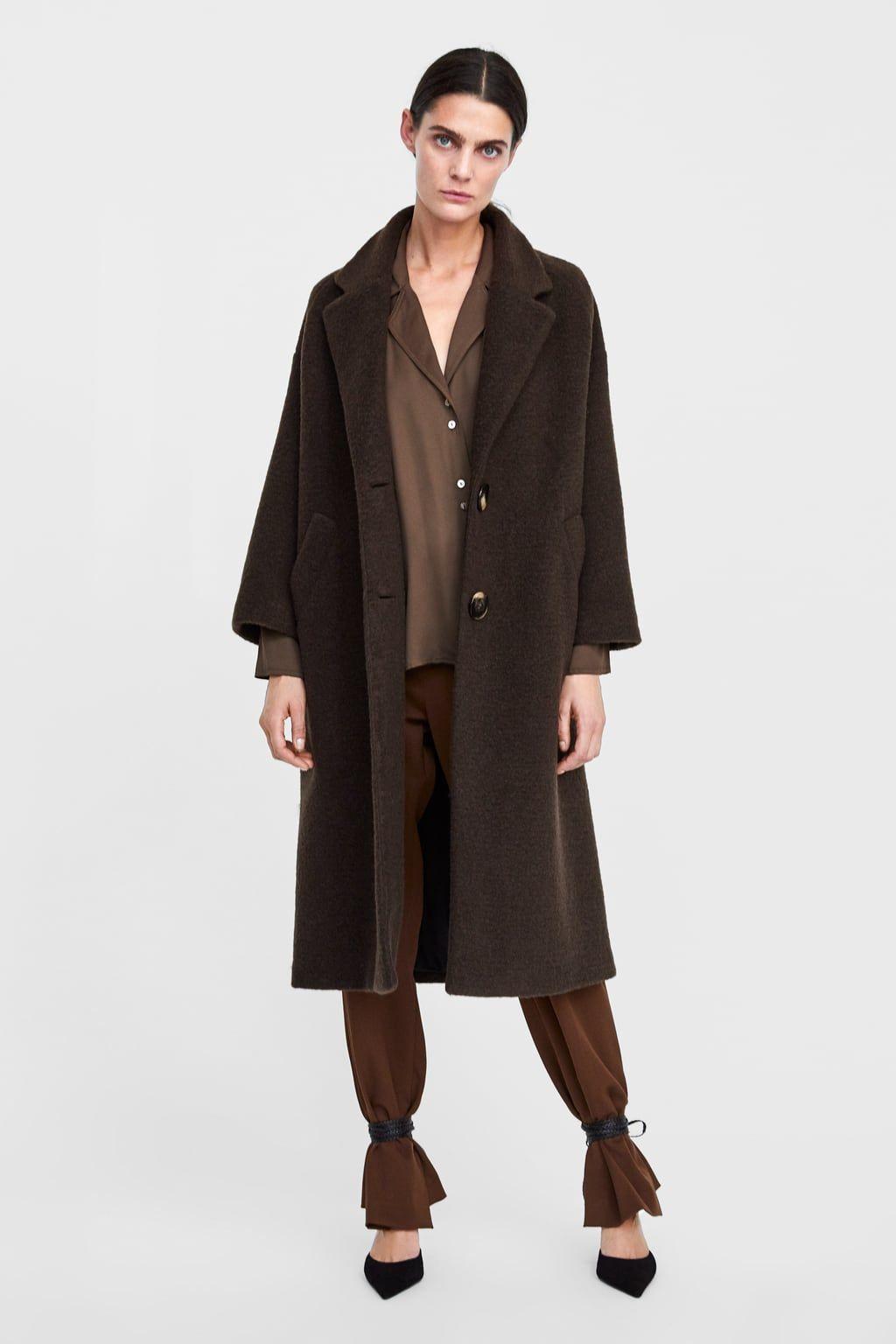 Zweireihiger mantel damen zara
