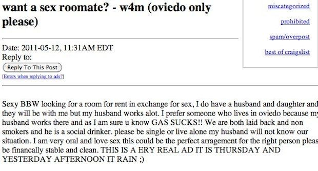 Nice Roommate Wanted Unbelievable Roommate Ads From Craigslist Roommate Wanted Rooms For Rent Craigslist