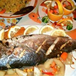 طريقة عمل صينية سمك في الفرن روعة وصفة اطباق رئيسية و اكلات سريعة جديدة وشهية لا تفوت بطريقة طباخ من السعودية بخطوات وا Middle Eastern Recipes Recipes Food
