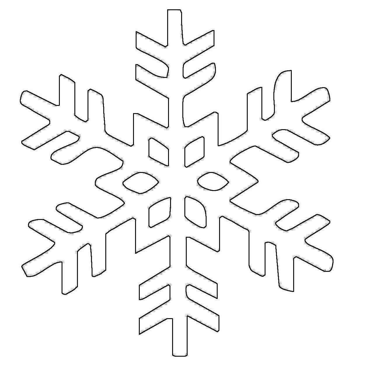 Ausmalbild Schneeflocken und Sterne: Schneeflocke 8 kostenlos ...