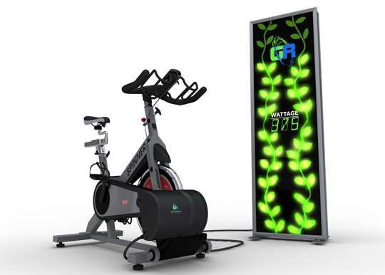 Energy Generating Gymcycles Gyre9 Green Revolution Spinning Fietsen