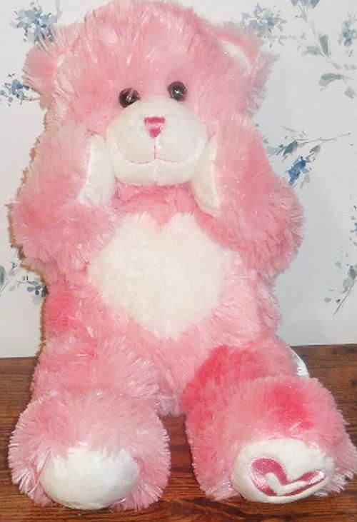 BUILD A BEAR VALENTINE PINK KISSES FUR YOU HEART TEDDY PLUSH DOLL MAGNETIC PAWS #BUILDABEAR #AllOccasion