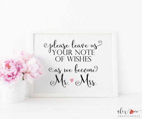 Wedding Notes Wedding Wish Cards