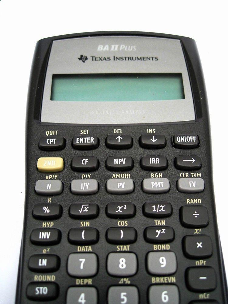 Texas Instruments TI BA-II Plus Adv Financial Calculator Business - financial calculator