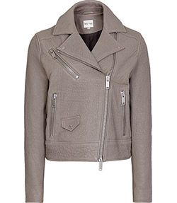 Favour+Storm+Textured+Leather+Biker+Jacket+-+REISS