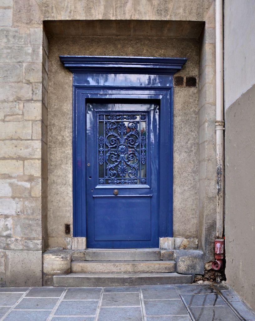 Blue #door in #Paris, #France