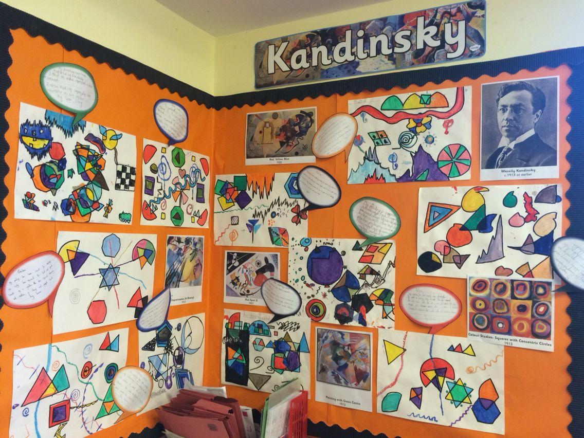 Line Drawing Ks2 : Kandinsky art display ks school