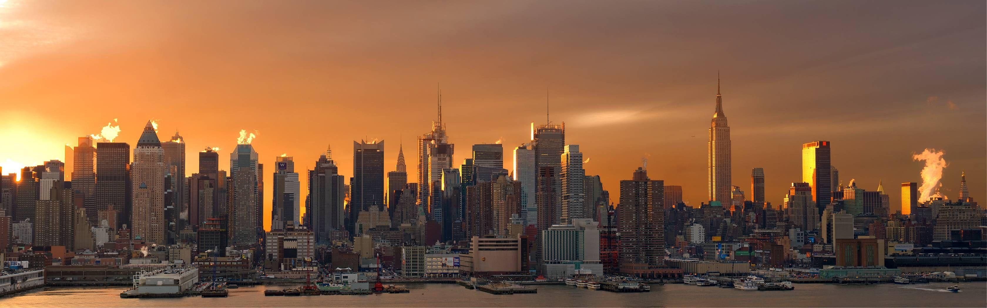 3360x1050 Background High Resolution City Nyc Skyline
