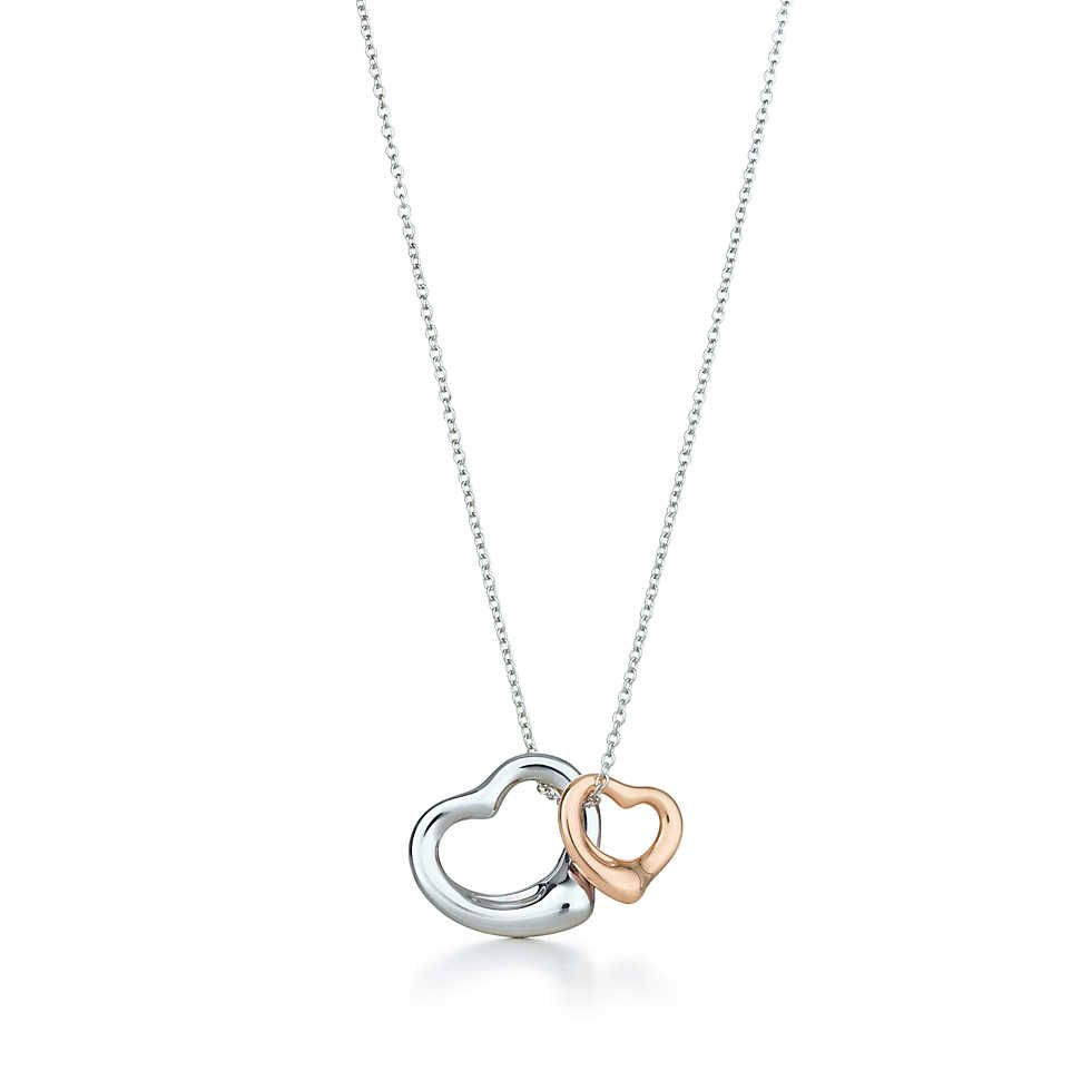 b548ed6ebd20 Colgante Elsa Peretti® Open Heart en plata fina y oro rosa de 18k