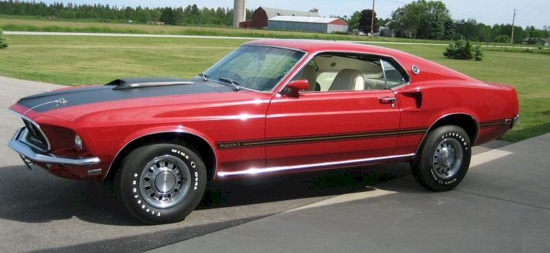 Candy Apple Red 1969 Mach 1 Mustang Fastback Mustang Red Mustang Ford Mustang Cobra