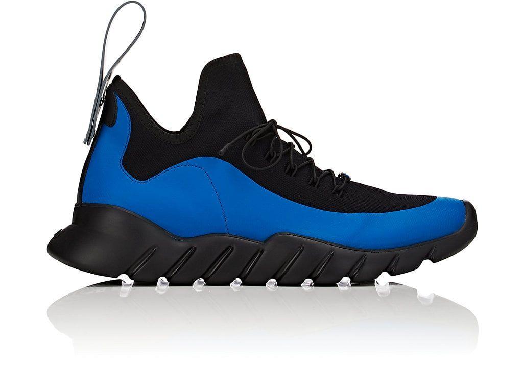 Fendi Runner Monochrome Sneakers In 4st