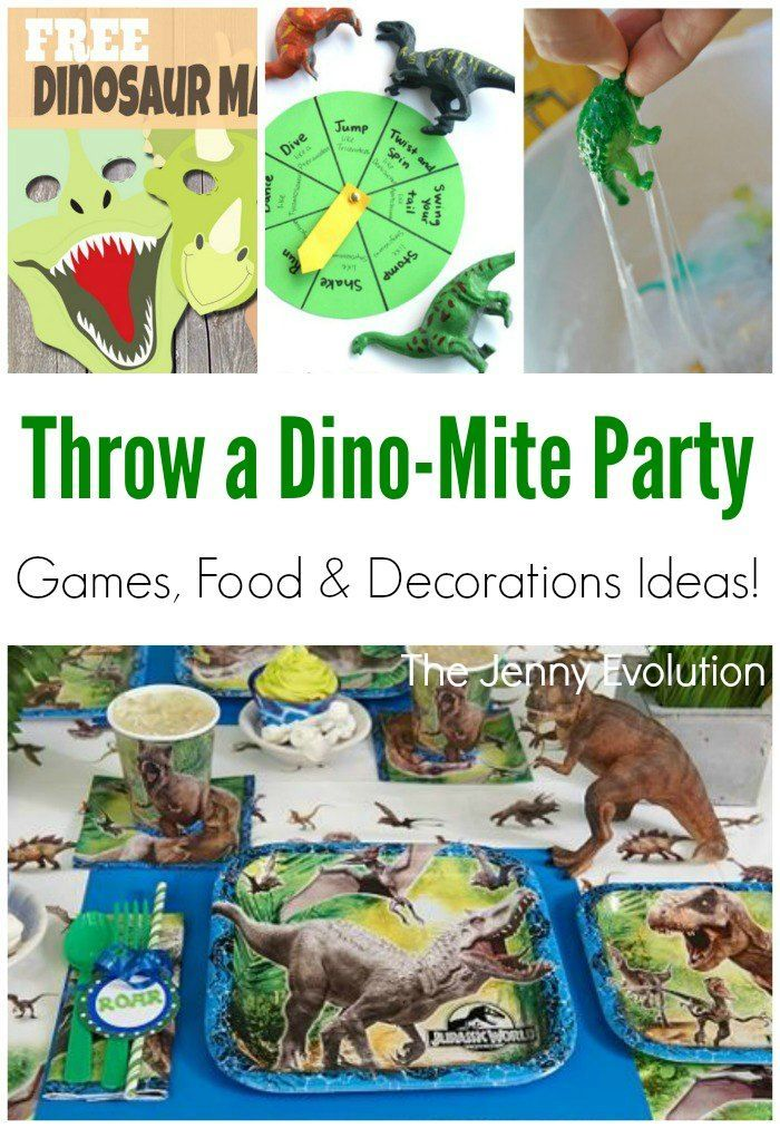Dinosaur Party Birthday Games Decorations And Fun Dino
