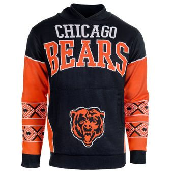 e2eaa312 Chicago Bears Ugly Christmas Sweater Pullover Hoodie | Sports ...