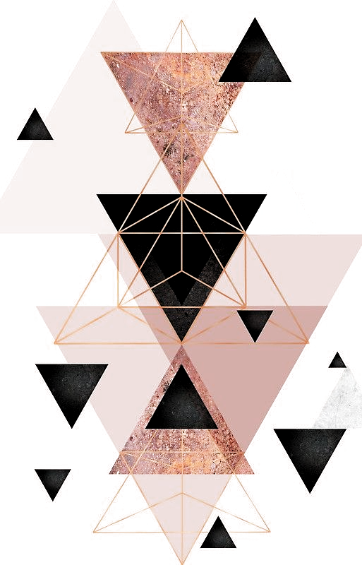Geometric Triangles In Blush And Rose Gold In 2020 Geometric Triangle Marble Iphone Wallpaper Iphone 7 Plus Wallpaper