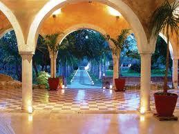 Palm Courtyard Hacienda Style Mexican Hacienda Hacienda