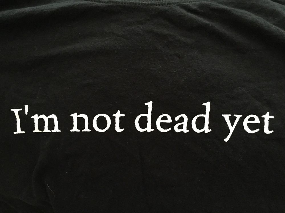 Details About Monty Python Spamalot 2 Sided Im Not Dead Yet T Shirt