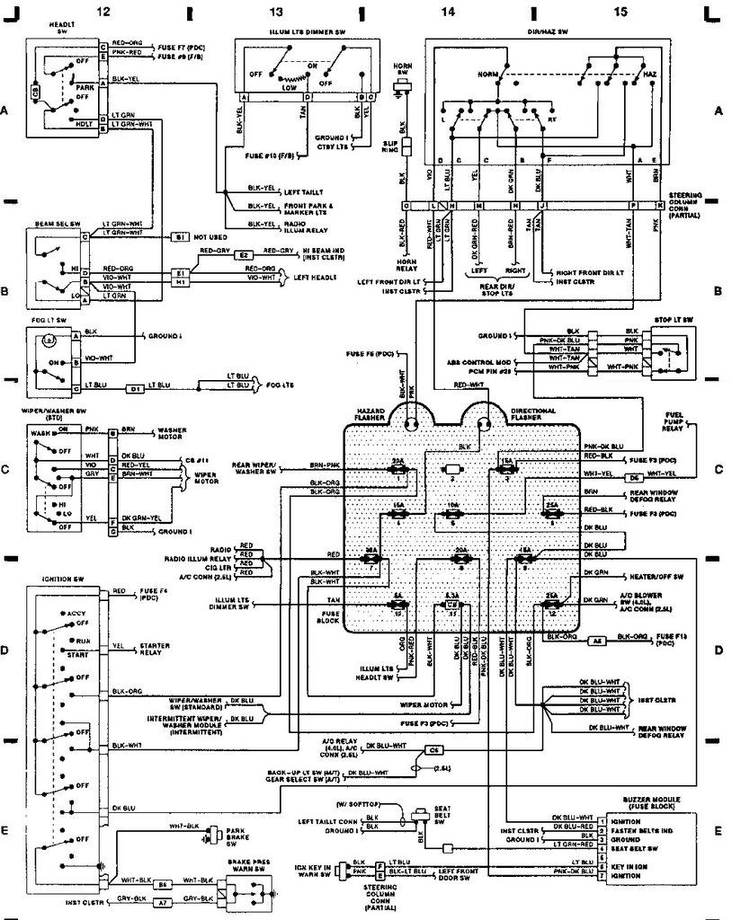 jeep wrangler yj wiring diagram online circuit wiring diagram u2022 rh electrobuddha co uk 93 grand cherokee wiring diagram 93 jeep cherokee radio wiring diagram