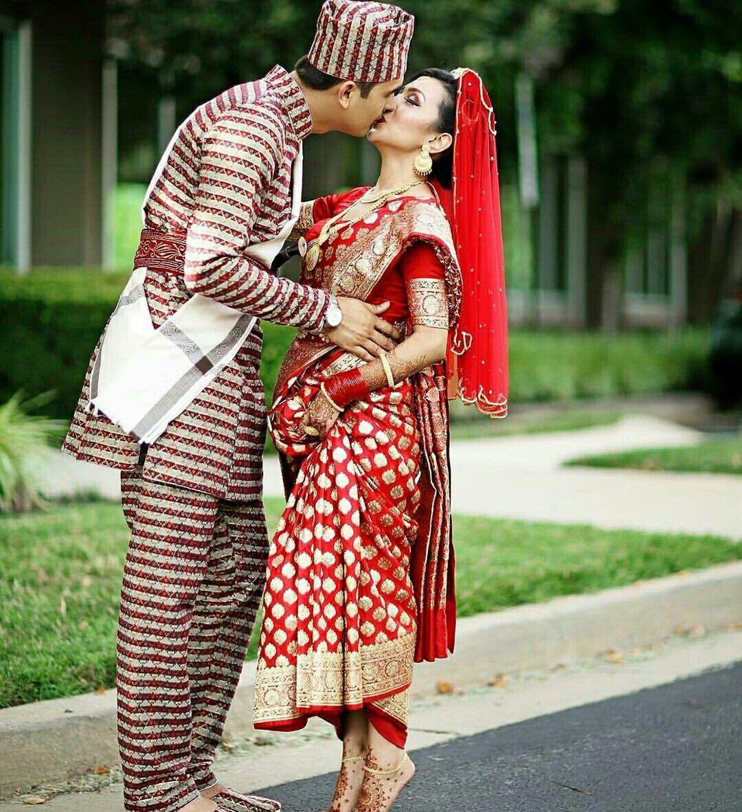 Pin by krishna on nepali saree pinterest simple sarees for Wedding dress nepali culture