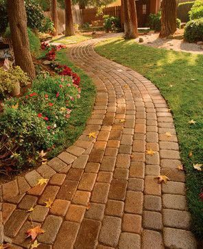 pictures of paver walkways up to front doors | Walkway or Patio Pavers - - landscape - other metro - by Basalite ... #WalkwayLandscaping #easyfrontyardlandscaping #walkwaystofrontdoor