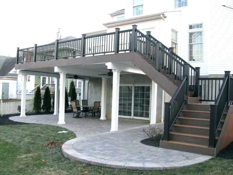 2nd Story Deck Two Story Deck Ideas Want A Covered Deck Or Partially Covered Dec 2nd Covered Dec Deck Id Patio Under Decks Patio Deck Designs House Deck