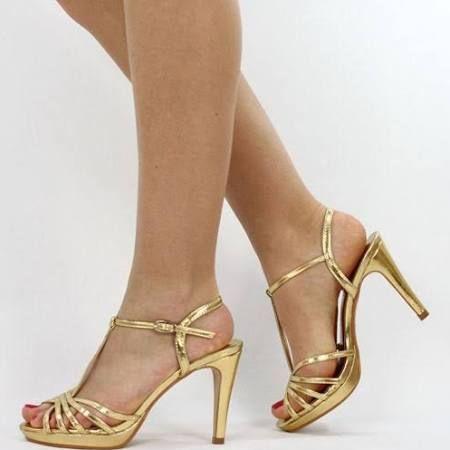 High Gold B7533Buntes Kleid Pumps Metallic Jumex Heels Riemchen redCxBo