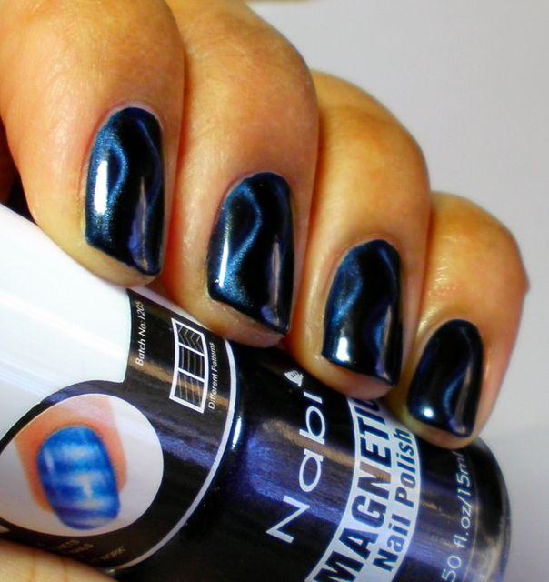 Nabi Magnetic Navy Blue | Cute art work | Pinterest | Arte de uñas ...