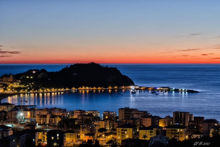 500px / the peninsula of Sestri Levante just after sunset by Gilberto Caria