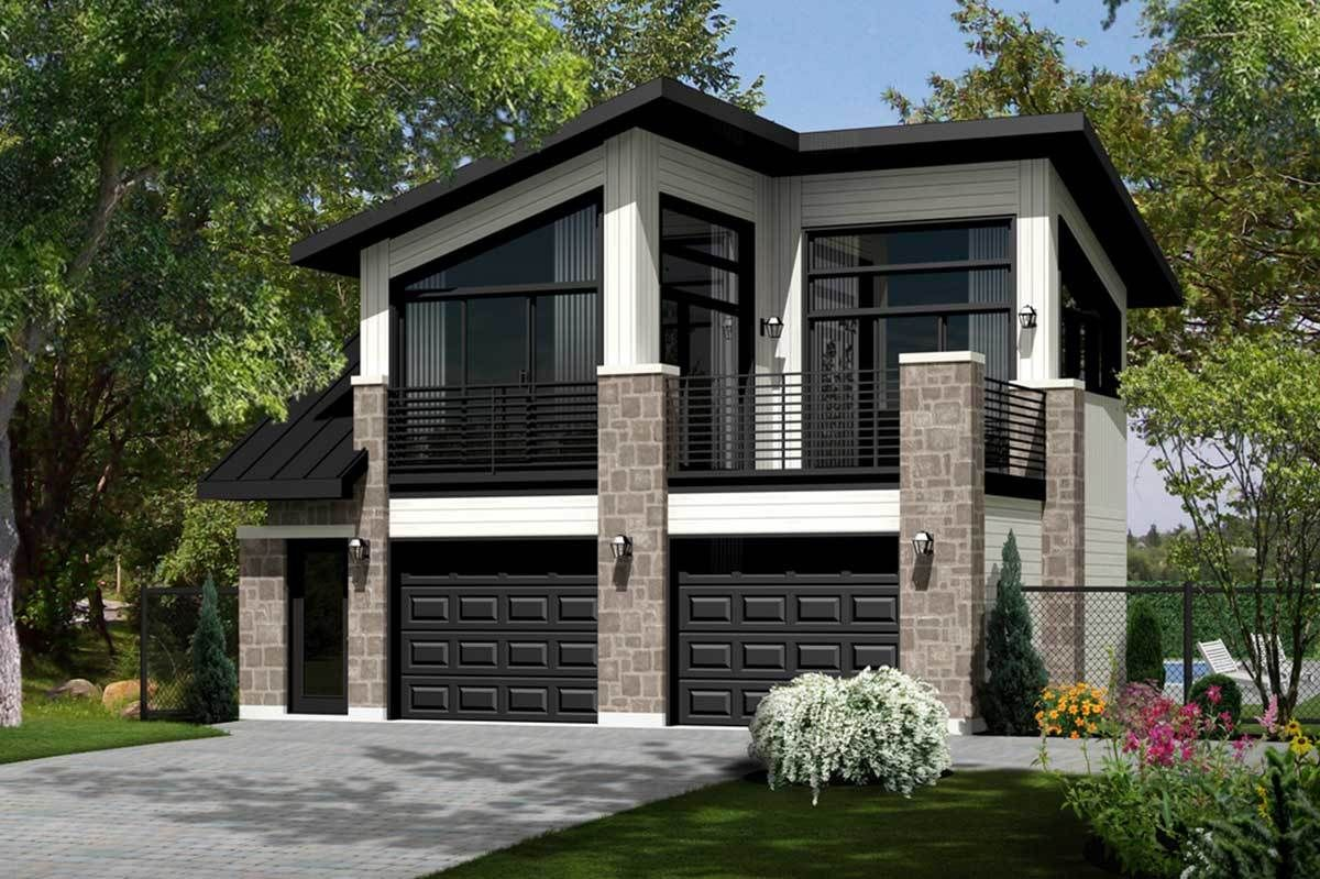 Plan 80905pm Contemporary Tiny House Plan Carriage House Plans Garage House Plans Modern House Plans