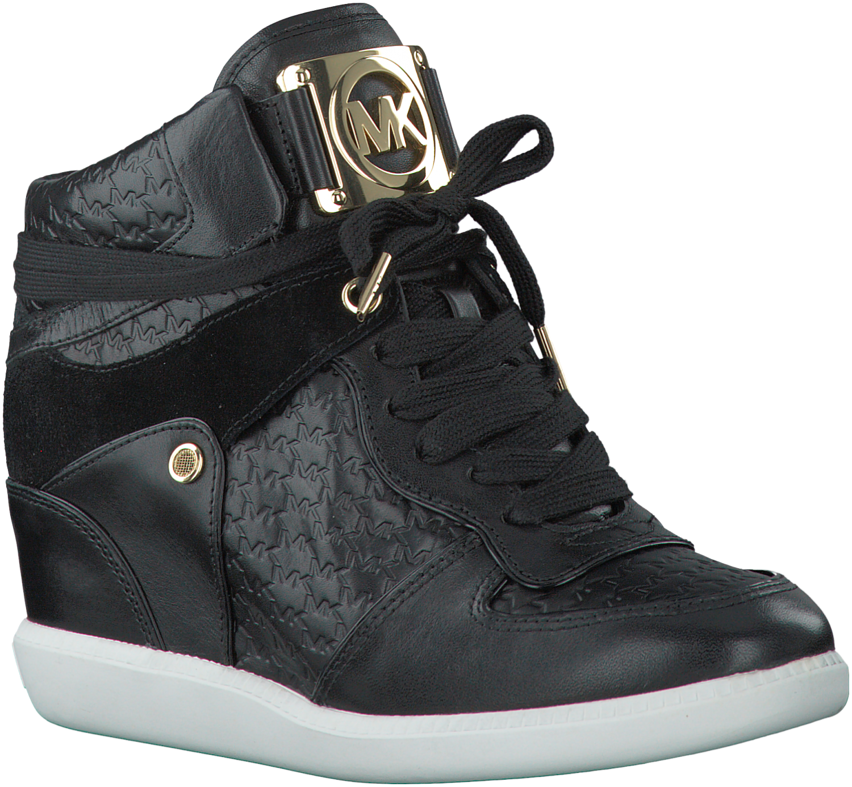 hot sale online bbd26 00091 ... Zwarte Michael Kors Wedge sneakers NIKKO HIGH TOP Womens Nike Dunk Sky  Hi Suede Casual ...