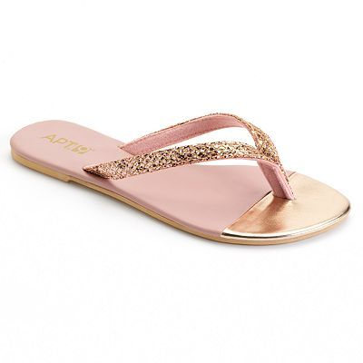 Apt. 9® Metallic Glitter Flip-Flops