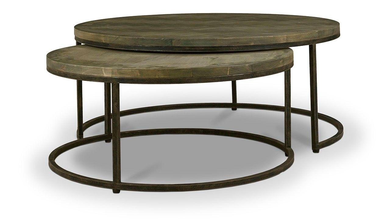 Paddington Round Coffee Tables W Parquet Top In 2021 Coffee Table Round Coffee Table Coffee Table Size [ 720 x 1280 Pixel ]