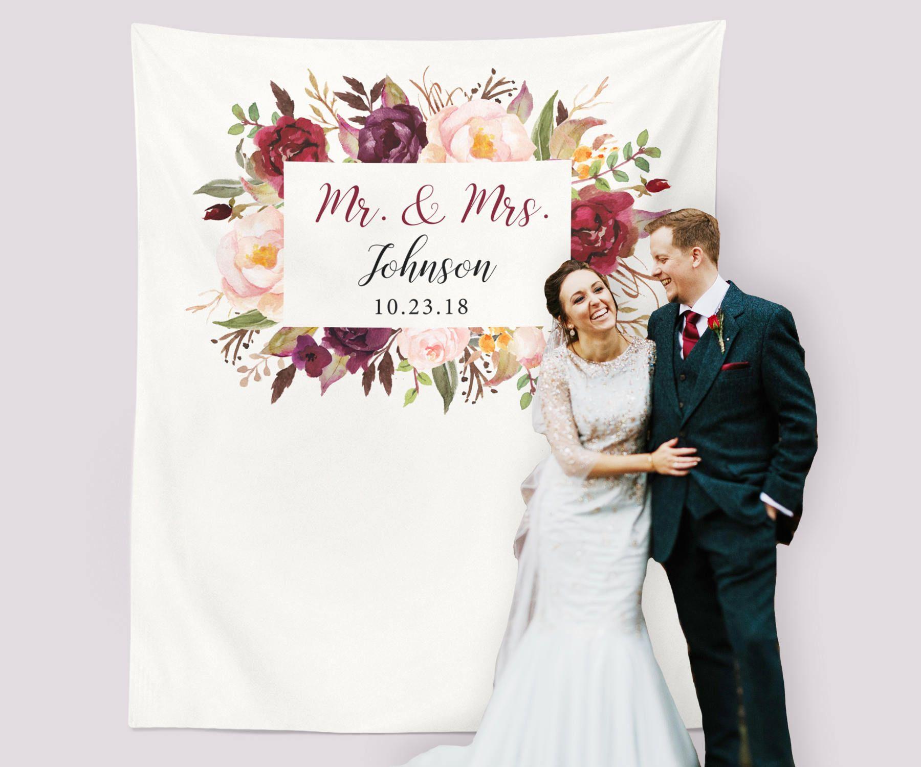 Marsala Wedding Photo Backdrop, Marsala Wedding Decorations ...