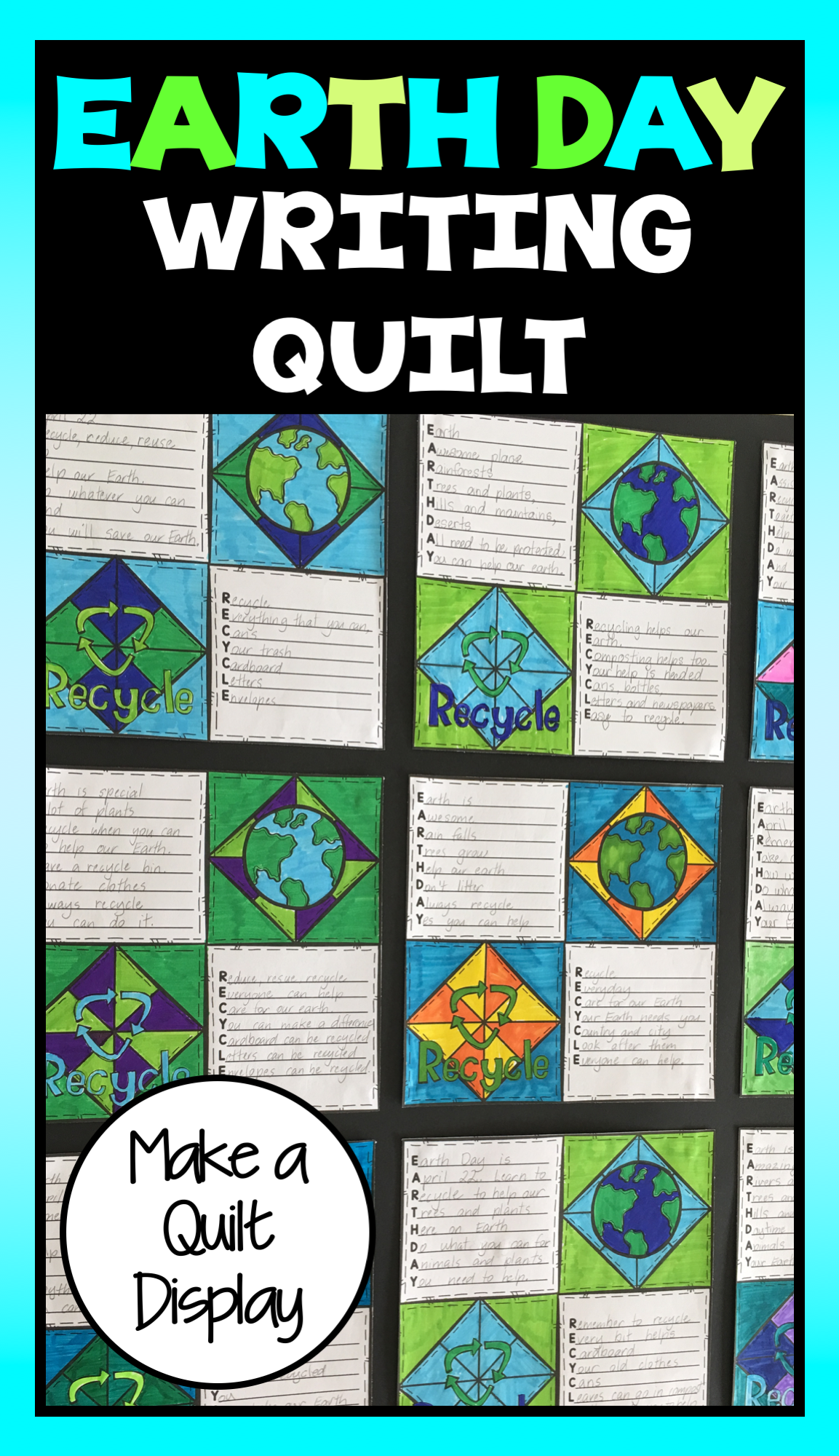Earth Day Activity Earth Day Writing Prompts Quilt