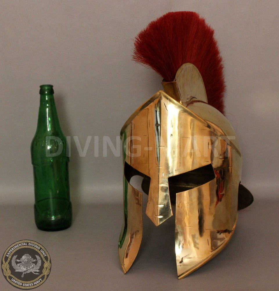 Spartan King Leonidas 300 Movie Armour Helmet Stand Medieval Viking Black Plum