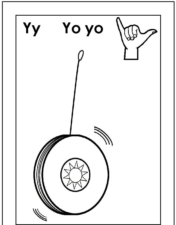 Asl For Y Coloring Page Sign Language Alphabet Alphabet Coloring Pages Alphabet Coloring