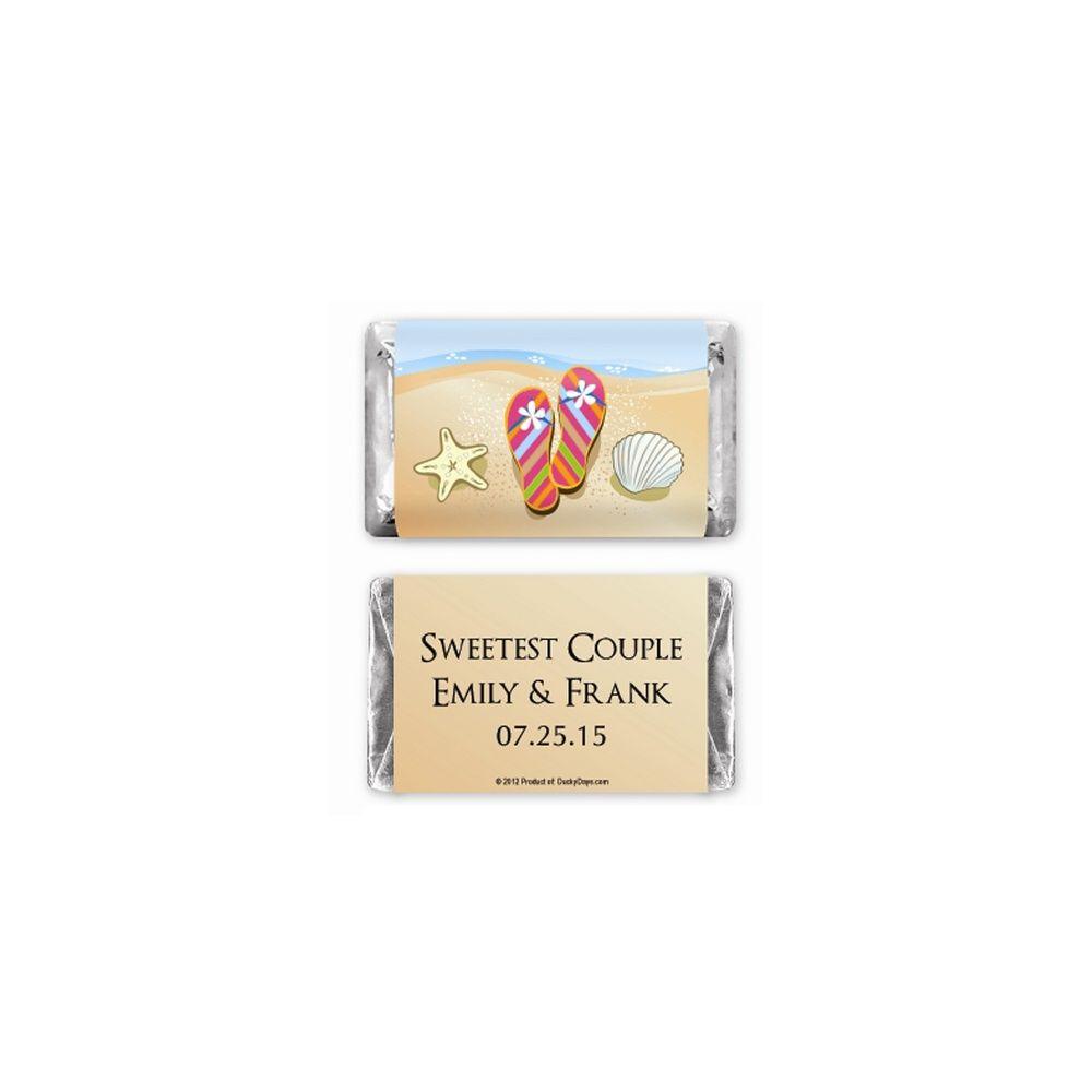 Hershey\'s® Flip Flops Mini Chocolate Bars Personalized Favor ...