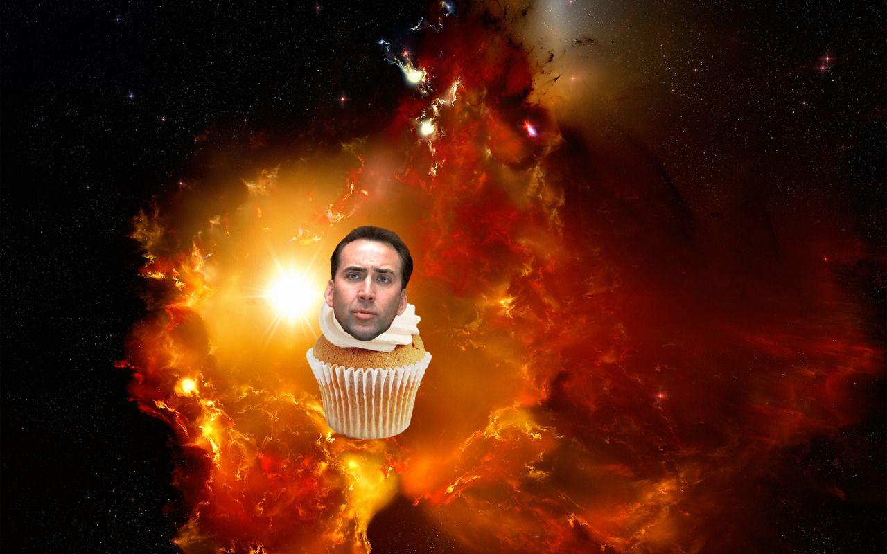 Nick Cage Galaxy Cupcake Google Search Nebula Wallpaper Nebula Cloud Wallpaper