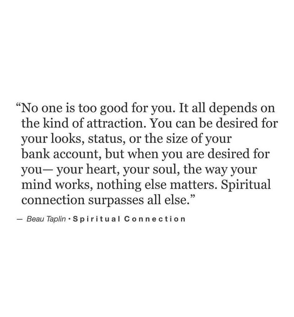 Spiritual connection.. ♥ Beau Taplin | my favourites:) | Words